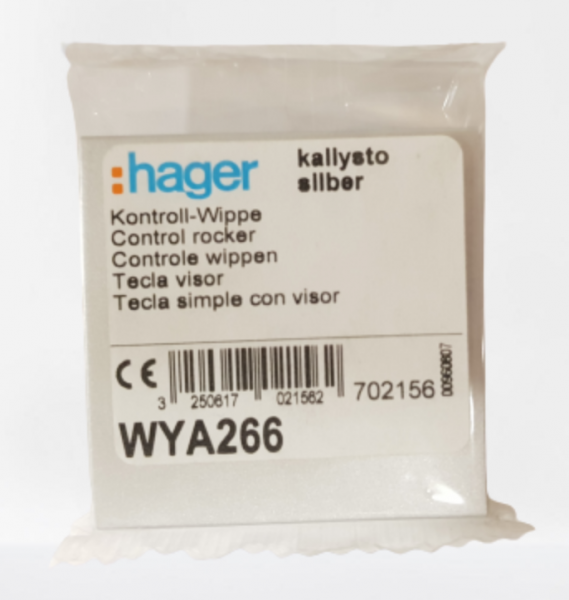 Hager Kontroll Wippe Abdeckung kallysto silber WYA266