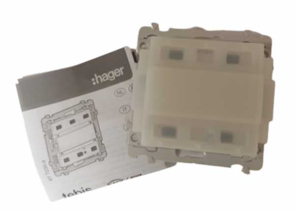 Hager Kabelgebundener KNX Druckknopf Schalter Kallysta WKT304