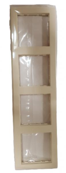 Hager 4-fach Rahmen kallysto pur creme WYR141