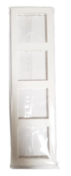 Hager 4-fach Rahmen kallysto pur brilliantweiß WYR140