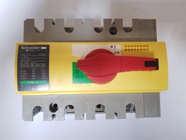 Schneider Electric 28924 Lasttrennschalter INS100 3p 100A 690VACDC Hauptschalter