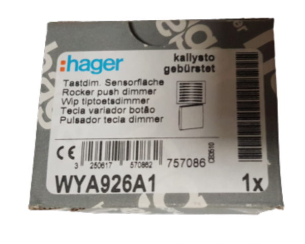 Hager Tastdimmer Sensorfläche Sensor kallysto gebürstet WYA926