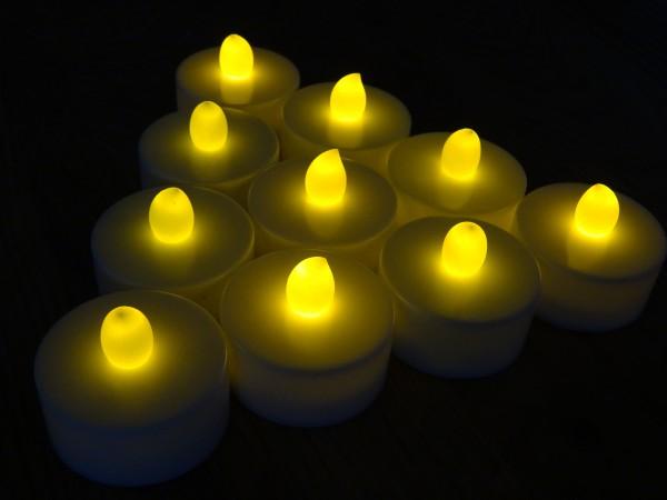 60 LED Teelichter elektrische Kerze flackernd inkl. Batterie