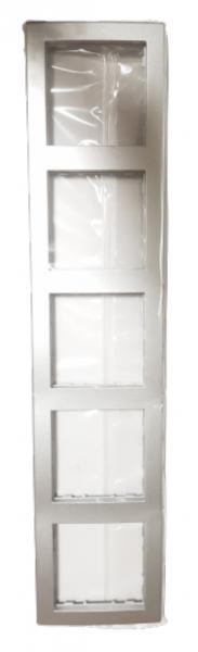 Hager 5-fach Rahmen kallysto pur silber WYR156
